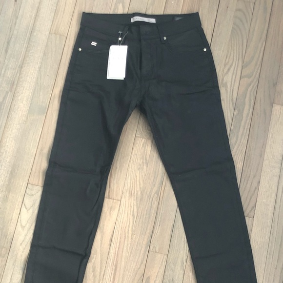 7968f5c1 Zara Jeans | Mens Slim Fit Black Waxed Denim | Poshmark